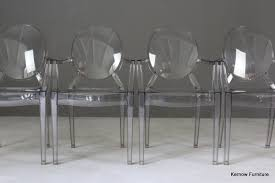 4 kartell ghost chairs