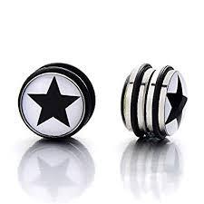 boys earrings 2pcs 10mm magnetic black circle stud earrings for men boys