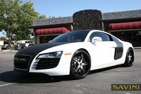 Audi R8 All Black - r8 savini wheels