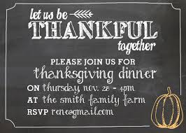 invitations for thanksgiving dinner cimvitation