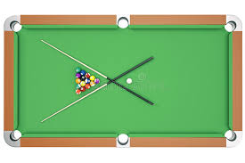 pool table top cover 3d illustration american pool snooker balls background american