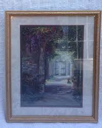 Homco Home Interiors Large Homco Home Interiors Framed Beautiful Floral Scenic Felder