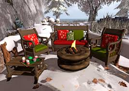 second life marketplace u003cheart homes u003e winter cozy porch set for