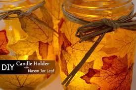 jar fall leaf candle holder best easy thanksgiving diy