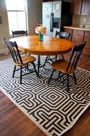 Rugs For Under Kitchen Table by Robust Welded Aluminum Frame Contemporary Brown Varnished Wooden