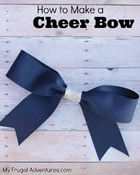 how to make girl bows how to make a cheer bow hairbow for my frugal