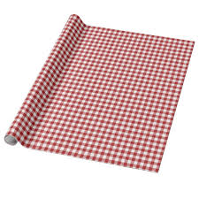 gingham wrapping paper christmas gingham wrapping paper zazzle