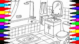 coloring pages bathrooms l bath tub l toilet drawing pages to