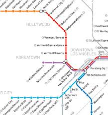 Metro Los Angeles Map by Metro Red Line Map Los Angeles Indiana Map