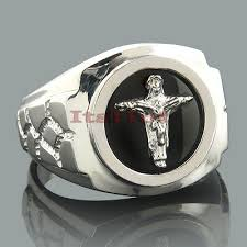 men rings mens black onyx rings 14k white gold mens cross ring
