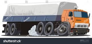 vector cartoon cargo semi truck more stock vector 31144879