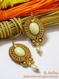 soutache earrings tutorial golden soutache earrings bead tutorial