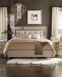 Mirror Bed Frame Furniture Ilyse Mirrored Bedroom Furniture
