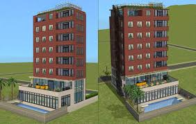 High Rise Apartment Building Floor Plans Mod The Sims Downtown Highrise Apartments Almost No Cc
