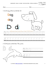 alphabet tracing worksheets how to write letter d