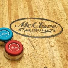 How Long Is A Shuffleboard Table by Choosing The Right Pucks For Your Shuffleboard Tablemcclure Tables