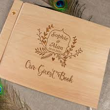engravable wedding guest book handmade engraved guestbook wood guestbook wooden wedding guest