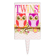 owl baby shower cake toppers zazzle