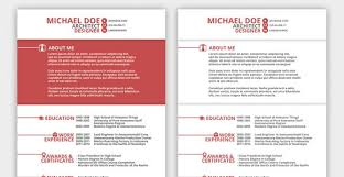 Innovative Resume Templates Simple Design Interesting Resume Templates Cozy The Bold Template