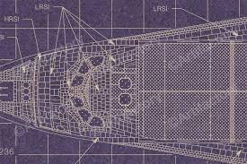 space shuttle blueprints set of 4 scientificsonline com