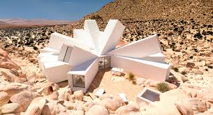 james whitaker creates home in the desert made out of shipping
