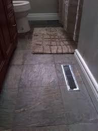 slate tile bathroom flooring new vanity and white baseboard trim tile slate bathroom