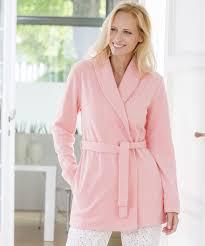 veste de chambre femme veste d intérieur en polaire multicolore femme damart