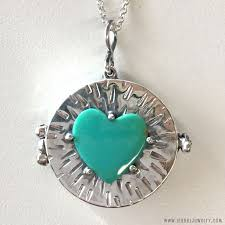 green heart necklace images Green nevada turquoise heart locket isabel jewelry jpg