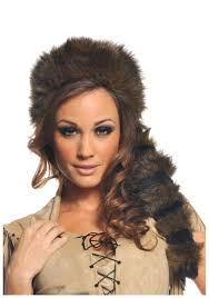 colonial halloween costume colonial frontier raccoon tail hat historical coonskin cap accessory