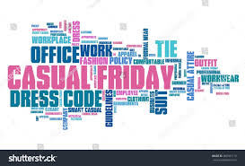 casual friday office dress code concept stock illustration