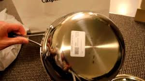 calphalon tri ply stainless steel 3 quart chefs pan youtube