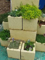 concrete block garden bed home design ideas