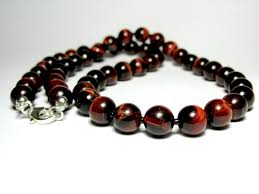 beaded red necklace images Mens red tiger eye necklace mens beaded necklace mens silver jpg