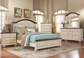 bedroom furniture king berkshire lake white 5 pc king panel bedroom casual