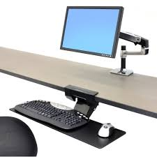 ergotron neo flex underdesk keyboard arm ergonomic keyboard arms