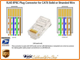8p8c connector for stranded or solid cat6 wire