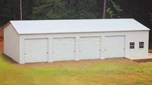 30x60 fully enclosed vertical metal garage