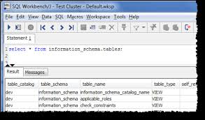 redshift create table exle connect to your cluster by using sql workbench j amazon redshift