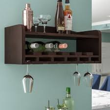 wine glass cabinet wall mount wine racks wine storage you ll love wayfair