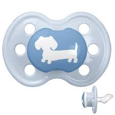 blue dachshund baby pacifier for human babies u2013 the smoothe store