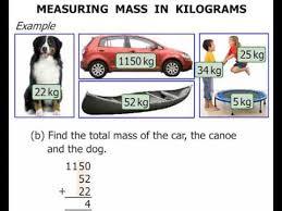 3rd grade measuring mass in kilograms youtube