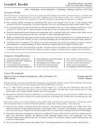 sample resume executive manager resume header examples