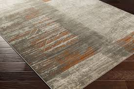 Grey And Orange Rug Surya Jax Jax 5012 Light Grey Olive Burnt Orange Area Rug