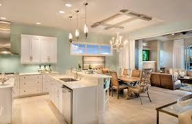 cuisine et vie demeure à miami à l architecture intérieure ouverte et
