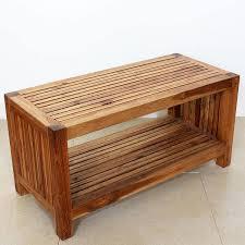 handmade coffee table handmade teak slat coffee table w shelf thailand free