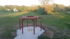 Firepit Swing How To Build A Hexagonal Swing With Sunken Pit Diy Projects