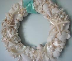 seashell wreath decor seashell wreath shell wreath w all white shells