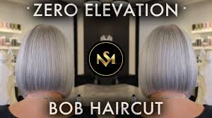 zero elevation bob haircut by steven mathew youtube