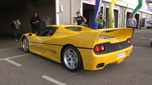 ferrari yellow yellow ferrari f50 sound youtube