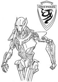 coloring page star wars general grievous from star wars coloring page download u0026 print
